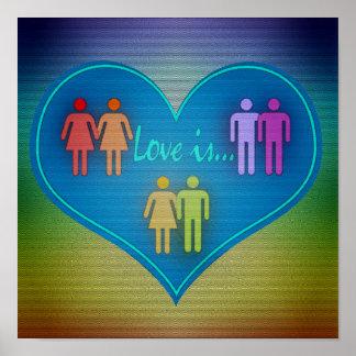 Kärlek är… poster