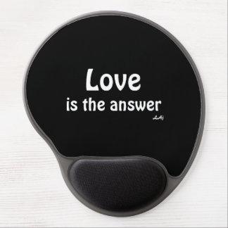 Kärlek är svarsviten på den svart gelen Mousepad Gelé Musmatta