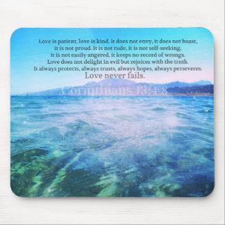 Kärlek är tålmodig, kärlek är den Kind bibelversen Musmatta