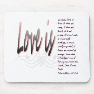 Kärlek är tålmodig musmatta