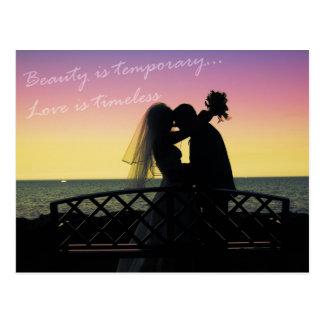 kärlek är tidlös vykort