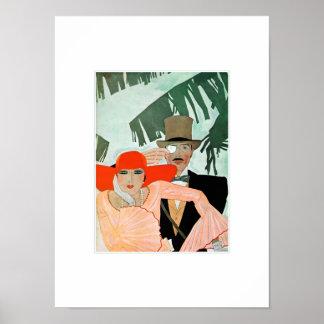 Kärlek. Art décovalentin tryck för gåva för dag Poster