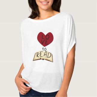 Kärlek att läsa tee shirt