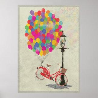 Kärlek att rida min cykel med ballonger! poster