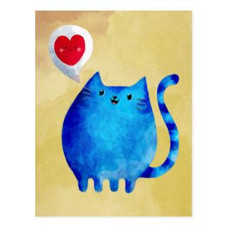 Kärlek av blåttkattungen vykort