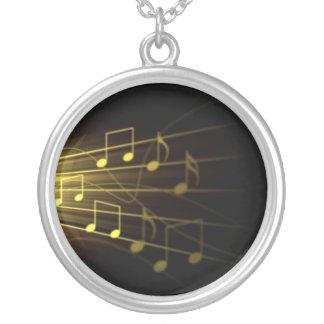 Kärlek av musik silverpläterat halsband