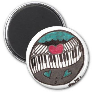 Kärlek av piano T Magnet