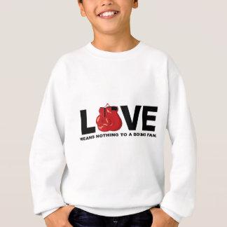 Kärlek betyder ingenting till en boxningfläkt t shirt