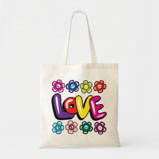 Kärlek- & blommatoto tygkasse