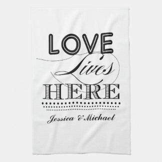 Kärlek bor här kökshandduk