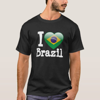 Kärlek Brasilien Tshirts