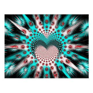 Kärlek broddar hypnotiskt vykort
