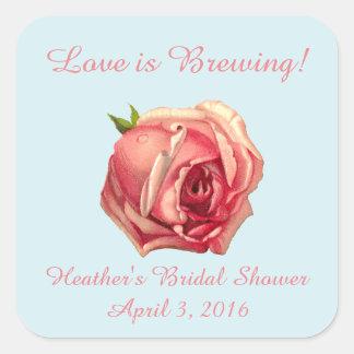 Kärlek bryggar: Klistermärke för Teapartymöhippa
