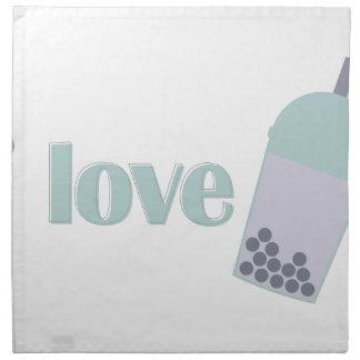 Kärlek bubblar Tea Tygservett