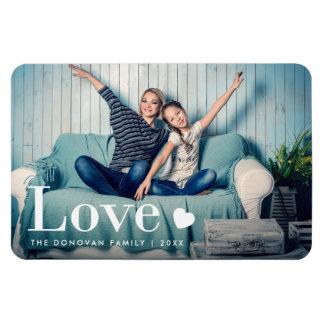 Kärlek | ditt personliga foto och en hjärta magnet