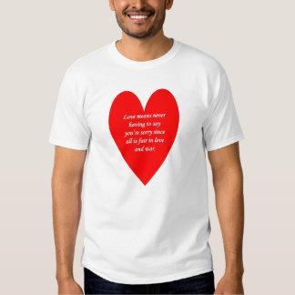 kärlek-elak-aldrig-ha-till något att t shirts