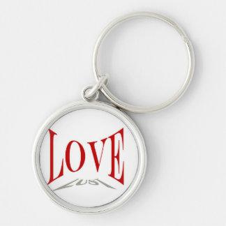Kärlek eller lusta Keychain Rund Silverfärgad Nyckelring