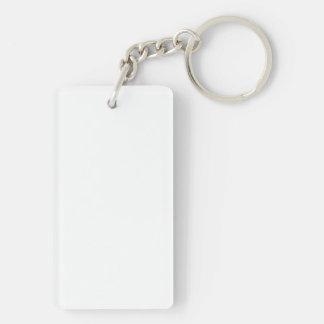 KÄRLEK för akrylen för nyckelringen för Rektangulärt Enkelsidig Nyckelring I Akryl