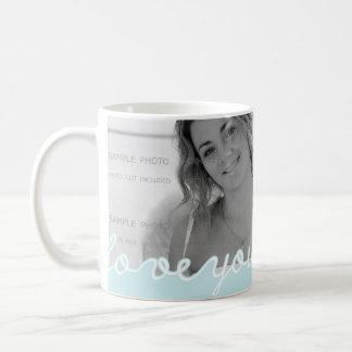 Kärlek för alla hjärtans dagpersonligfoto som du kaffemugg