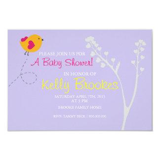 Kärlek för baby showerinbjudan | fågel |lv 8,9 x 12,7 cm inbjudningskort