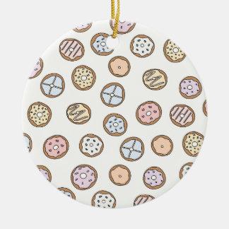 Kärlek för Donutsmunkmat Julgransprydnad Keramik