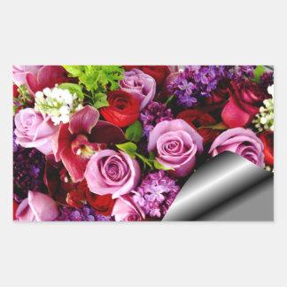 Kärlek för evigt din roses_ rektangulärt klistermärke