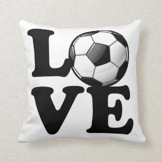 Kärlek för glansig fotbollboll för fotboll kudde