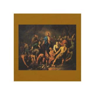 Kärlek för Jesus KristusLamb som målar herdevintag Trä Tryck