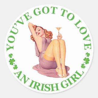 Kärlek för nolla för You've har T en irländsk Runt Klistermärke