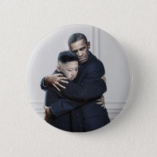 Kärlek för Obama Kim Jong Un Nordkorea Standard Knapp Rund 5.7 Cm