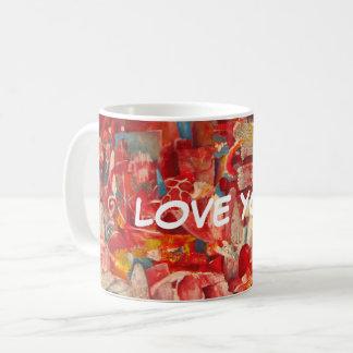 """kärlek för röd utskrivaven kaffemugg """"dig! """","""