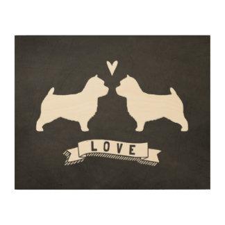 Kärlek för Silhouettes för Norwich Terrier Trätavla