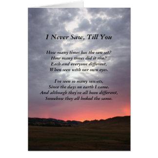 Kärlek för SoulmateKalifornien solnedgång dig Hälsningskort