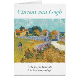 Kärlek för Van Gogh konstnärcitationstecken många Hälsningskort