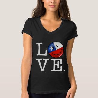 Kärlek från Chile som ler chilensk flagga Tee