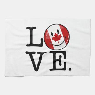 Kärlek från Kanada som ler kanadensisk flagga Kökshandduk
