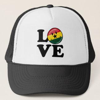 Kärlek Ghana som ler den Ghanian flagga Truckerkeps