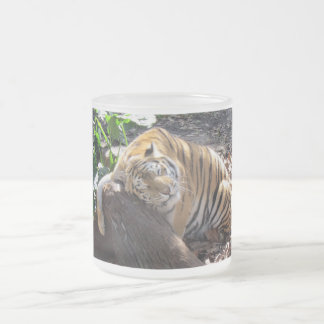 Kärlek gillar du en sten - den Bengal tigern - Frostad Glasmugg