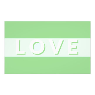 Kärlek - grönt fototryck