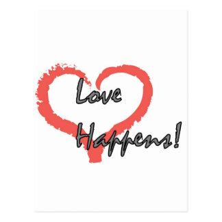 Kärlek händer! vykort