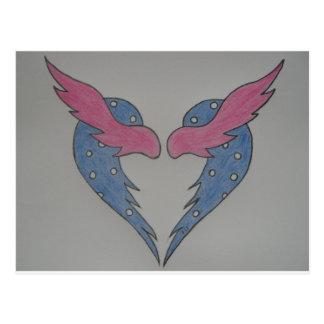 Kärlek har vingar vykort