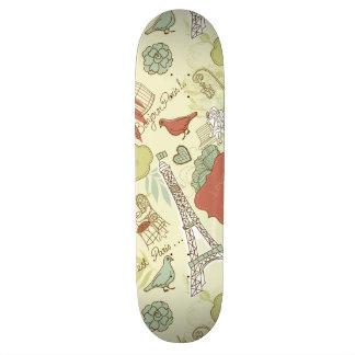 Kärlek i det Paris mönster Skateboard Bräda 20,5 Cm