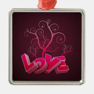 kärlek i rosor julgransprydnad metall