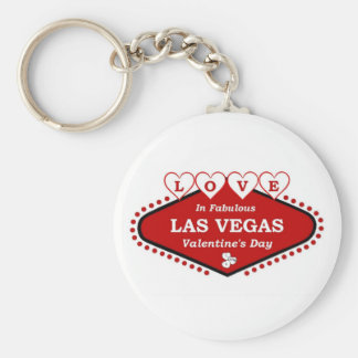 KÄRLEK i sagolika Las Vegas valentin dag Keychai Rund Nyckelring