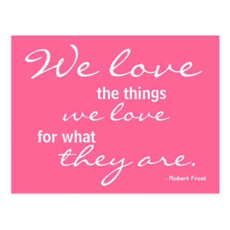 Kärlek inspiration - vykort