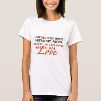 Kärlek inte ilska tee shirt