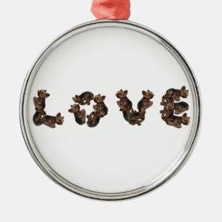 Kärlek Julgransprydnad Metall