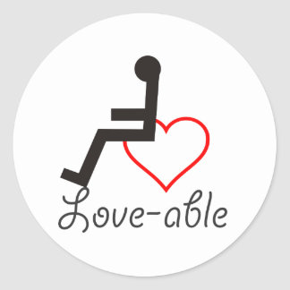 Kärlek-Kompetent klistermärke