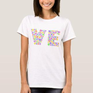 Kärlek kopplar ihop kvinna T-tröja Tee Shirt