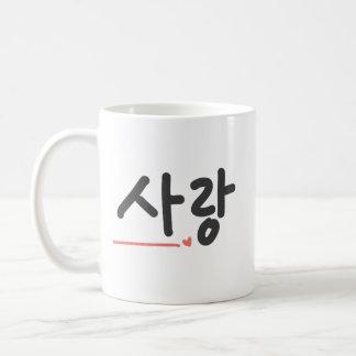 Kärlek (korean) kaffemugg